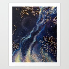 Space Patterns Art Print