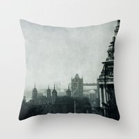 london Throw Pillows featuring London by Ingrid Beddoes