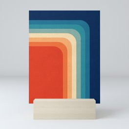 Retro 70s Color Palette III Mini Art Print