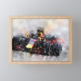 Max Verstappen Racing Framed Mini Art Print