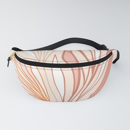 Simple Earthy Leaves - line drawing Fanny Pack