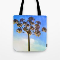 umbrella Tote Bags featuring Umbrella by Herzensdinge