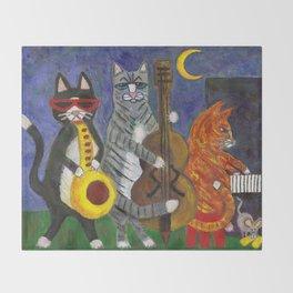Jazz Cats Throw Blanket