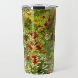 Impressionist Poppies Travel Mug