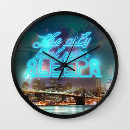 NEW YORK NEVER SLEEPS Wall Clock