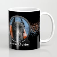 pit bull Mugs featuring Pit Bull by Galen Valle