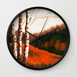 Autumn Landscape - Rooibos Tea Palette Wall Clock