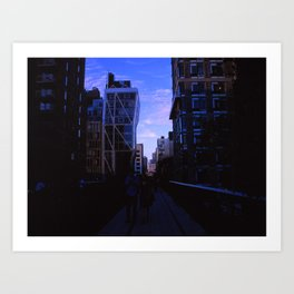 Taking The High Line  Art Print