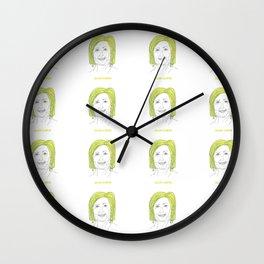 Celery Clinton Wall Clock