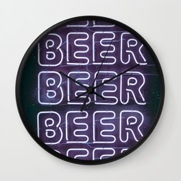 Beer Beer Beer Wall Clock