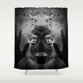By the light of MY cauldron Shower Curtain