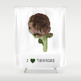 Artichoke - I love veggies Shower Curtain