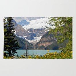 Scenic Lake Louise in Canada Rug