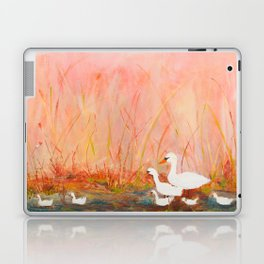 Gooses day out on the pond Laptop & iPad Skin