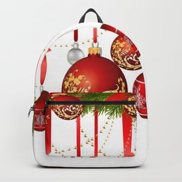 ORNATE HANGING RED CHISTMAS TREE DECORATIONS Backpack