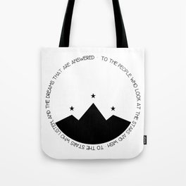 to the people who look at the stars and wish Tote Bag