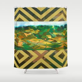 Wait me into your quilty cover.. Shower Curtain