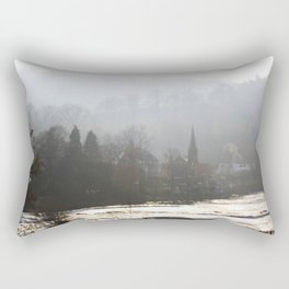 Town on the Valley Rectangular Pillow