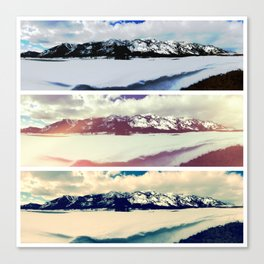 Mountain Panorama Collage Canvas Print