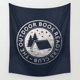 Outdoor Book Readers Club badge Wall Tapestry