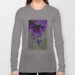 Purple Cranesbill Long Sleeve T-shirt