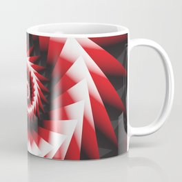 Abstract Spiral Sea Shell 2 - Red, Black and White Coffee Mug