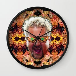 God Guy Fieri's Hot Dog Diggityverse Wall Clock