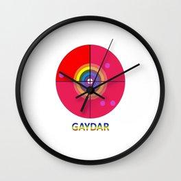 Gaydar Wall Clock