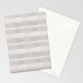 LINEN STRIPE RUSTIC Stationery Cards