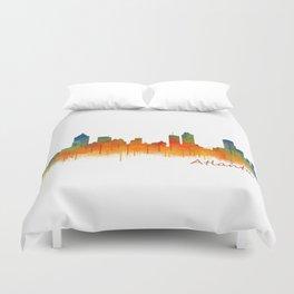 Atlanta City Skyline Hq v2 Duvet Cover