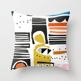 Papercut Modern Throw Pillow