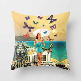 Petaloudes Throw Pillow