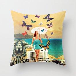 Petaloudes Throw Pillow