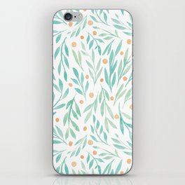 Leaves and Berries #2 | Green and Orange Palette iPhone Skin