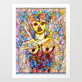 Stain Glass Art Print