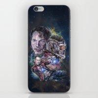 star lord iPhone & iPod Skins featuring Star Lord - Galaxy Guardian by Nina Palumbo Illustration