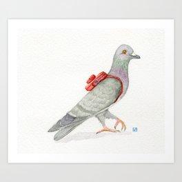 Little Messenger Pigeon Art Print