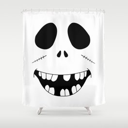 Smiling Zombie Face Shower Curtain