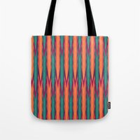 knitting Tote Bags featuring Knitting Flames by VessDSign
