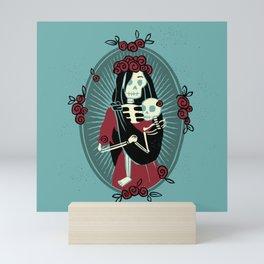 Skeleton Mother & Child - Dia de los Muertos Mini Art Print