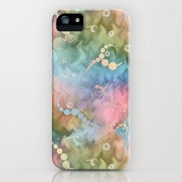 Satin Rainbow Pastel Floral iPhone Case