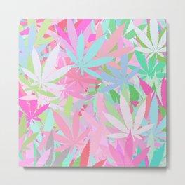 Marijuana Cannabis Weed Pot Spring Theme Metal Print