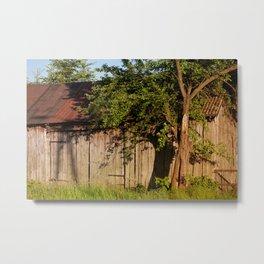 Abandoned old wooden shack Metal Print