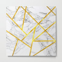 Abstract Marble-Zero Opacity Metal Print