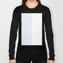 White and Pastel Blue Vertical Halves Long Sleeve T-shirt