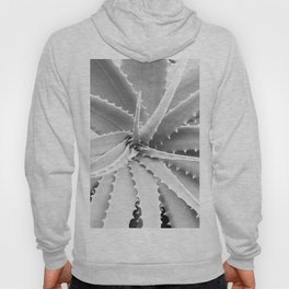 Agave Leaves | Black and White Hoody