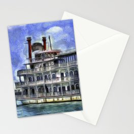 New Orleans Paddle Steamer Van Goth Stationery Cards