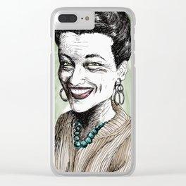 Simone de Beauvoir Clear iPhone Case
