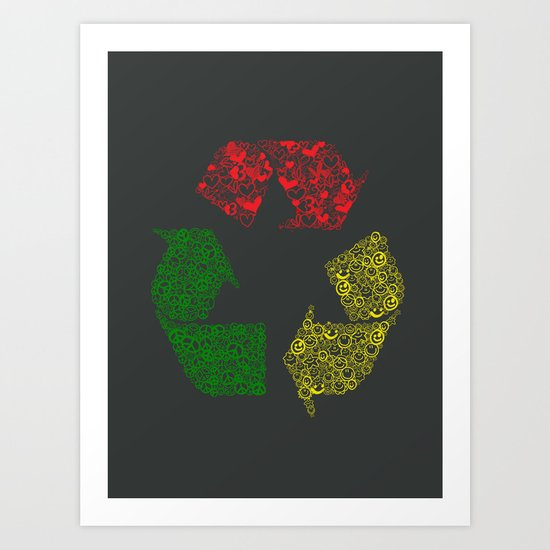 Peace, Love and Happiness Art Print