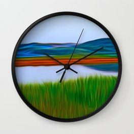 Over the Lake Wall Clock